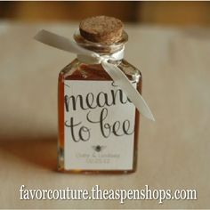 Wedding favors. These honey jars along with the Spread the Love homemade jam would be cool.