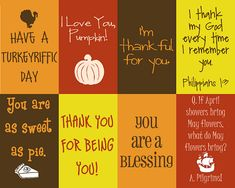 Giving Thanks... lunch box notes for Thanksgiving