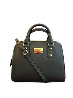 e5a281401723f3 Michael Kors Small Satchel Black Saffiano Leather ** Click image to review  more details.Note:It is affiliate link to Amazon.