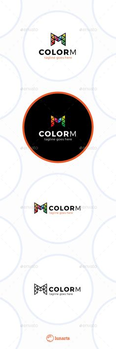Triangle Color Letter M Logo - Letters Logo Templates