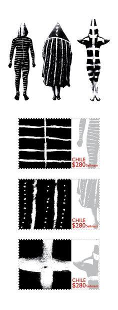 Serie de sellos de temática Selknam, en un diseño contemporáneo Southern Cone, Building For Kids, Pencil And Paper, Tribal Art, Figurative Art, Drawing S, Album Covers, Chile, Illustration