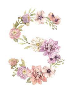 Monogram Wreath, Monogram Wedding, Monogram Letters, Fancy Letters, Floral Letters, Wreath Watercolor, Floral Watercolor, Monogram Wallpaper, Flower Backgrounds