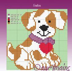 sandylandya@outlook.es  Dog hama perler pattern by aux4mains