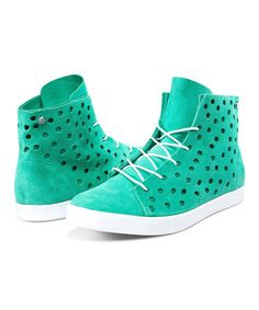 Look what I found on #zulily! Mint Buzz Leather Hi-Top Sneaker #zulilyfinds