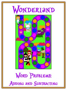 ALICE IN WONDERLAND - Word Problems Adding & Subtracting - Math Folder Game from Lessons For Little Learners on TeachersNotebook.com - (16 pages) - Create a great File Folder Game that is perfect for Math Centers or even independent time! Kindergarten Math Games, Maths, Math Folders, Math Boards, Tens And Ones, File Folder Games, Math Word Problems, Second Grade Math, Adding And Subtracting
