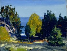 """""""The grove, Monhegan"""" (1911) By George Bellows, from Columbus, Ohio, US (1882 - 1925) oil on board; 36.2 x 47.9 cm © The Museum of Fine Arts, Houston , Texas, US The Museum of Fine Arts, Houston, Wintermann Collection of American Art, gift of Mr. and Mrs. David R. Wintermann http://www.mfah.org/ https://www.facebook.com/mfah.org"""
