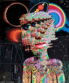 Collages by Larry Carlson