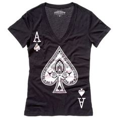 Be An Ace Tee Women's Black, $19.50, now featured on Fab.