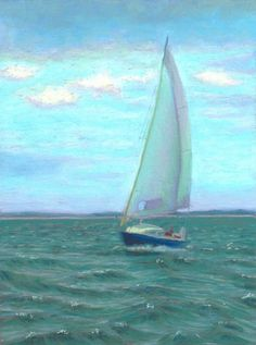 """Sailing Cape Cod Bay"" by Nancy Poucher"