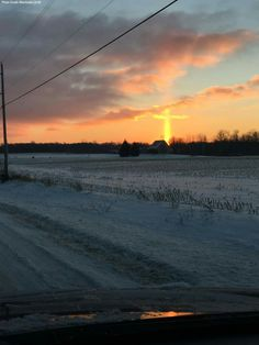 Photo of the Day: A woman in Michigan took this photo of the sunrise forming what appears to be a cross.