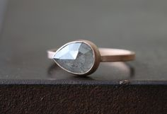 Natural Rose Cut Smokey-Grey Diamond Ring  / Alexis Russel