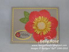 Kelly Rose, Independent Stampin' Up! Demonstrator: Build A Blossom