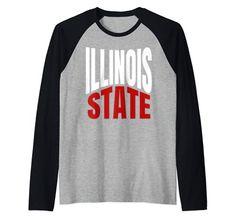 State Of Illinois IL Pride Travel Culture Raglan Baseball Tee States Of USA Raglan Baseball Tee, Culture Travel, S Star, Branded T Shirts, Illinois, Fashion Brands, Pride, Man Shop