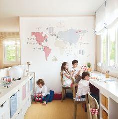 Gana luz y espacio comunicando estancias · ElMueble.com · Escuela deco