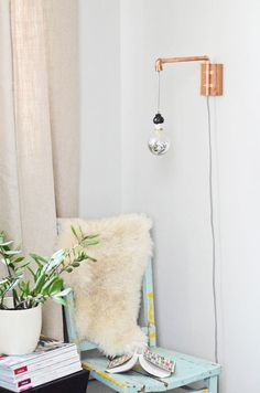 Easy copper DIY project: Copper wall sconce- full how-to via @camillestyles