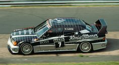 Klaus Ludwig in the AMG Mercedes 190 Evo II at the DTM-Race on the Nordschleife 1990