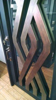 For frame and Box Steel Railing, Steel Gate, Steel Doors, Gate Design, Door Design, House Design, Iron Front Door, Garden Fence Panels, Pivot Doors