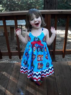 ADORABLE FOR YOUR PAW PATROL Fan. CUSTOM SIZED FROM 12 MONTHS TO GIRLS SIZE 12 **This is not a licensed product. It is however, Paw Patrol Dress, Paw Patrol Party, Paw Patrol Birthday, 3rd Birthday, Birthday Ideas, Birthday Parties, Pow, Puppy Party, Little Girl Outfits