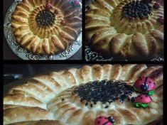 Tarta Floarea Soarelui cu fructe de sezon Pie, Cookies, Desserts, Food, Banana, Torte, Crack Crackers, Tailgate Desserts, Cake