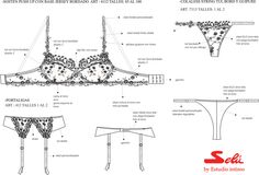 Estudio Intimo: Trabajos Lingerie Patterns, Sewing Lingerie, Jolie Lingerie, Barbie Patterns, Clothing Patterns, Sewing Patterns, Lingerie Cookies, Lingerie Illustration, Fashion Design Template