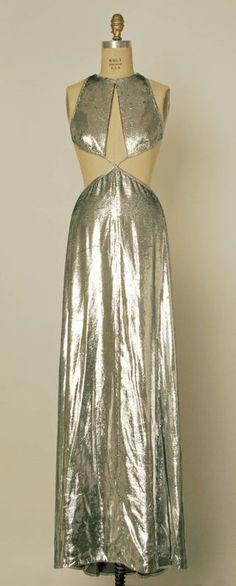 Mercury Dress Geoffrey Beene (American) ca. fall/ winter 1994 metallic, synthetic