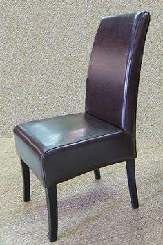 Juego de 2 sillas de comedor bolero s mil piel roja for Sillas piel marron chocolate