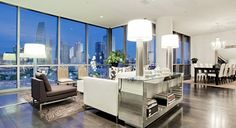 Stunning view of downtown Dallas from this luxury penthouse! 2200 Victory Avenue #1302, Uptown Dallas
