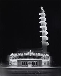 Julius Shulman - Academy Theater (Inglewood, Calif.): exterior, 1940. Gelatin silver print.