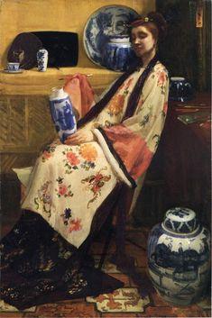 James Abbott McNeill Whistler: Purple and Rose : The Lange Leizen of the Six Marks - Philadelphia Museum of Art