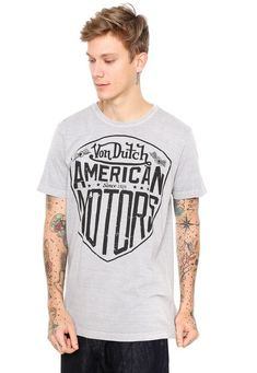 7b4a272cf0 Camiseta Von Dutch American Motors Cinza - Marca Von Dutch