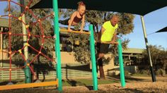DAD TRIES TO COPY DAUGHTER'S GYMNASTIC MOVES