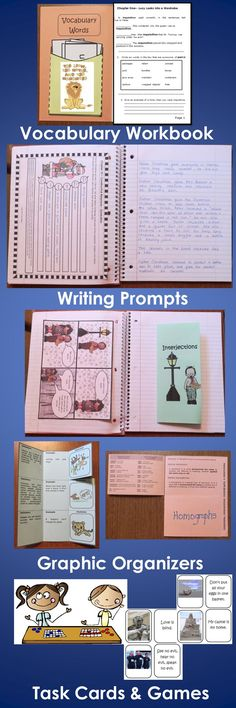 The Lion, the Witch and the Wardrobe Interactive Notebook & Activity Unit contains graphic organizers for an interactive notebook and game activities covering vocabulary, constructive response writing, and skill practice. $