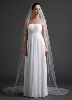 David's Bridal Cathedral Length Veil with Beaded Edge Style V910LONG, White David's Bridal. $199.00