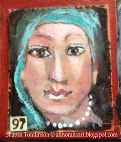 Face No 97 of One Hundred Faces by me, Sharon Tomlinson