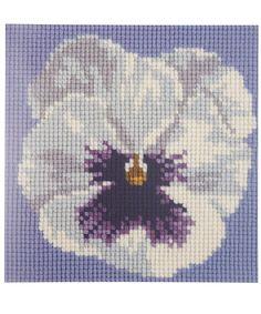 Elizabeth Bradley Mini Pansy Tapestry Kit | Needlepoint by Elizabeth Bradley | Liberty.co.uk