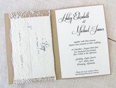 Shabby Chic Vintage Lace Pocket Wedding by LoveofCreating on Etsy