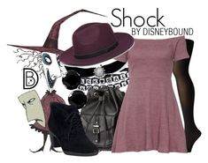 Shock by leslieakay on Polyvore featuring polyvore, fashion, style, Wolford, Clarks, H&M, Sirius, Steve Madden, Halloween, disney, disneybound and disneycharacter