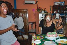 "Anna Perme '17- Fall 2015- IES Abroad Galápagos Islands: Galápagos Academic Institute for the Arts and Sciences- F&M Everywhere- San Cristobal, Galapagos Islands   - It's tradition to have the birthday girl/boy get a little extra bite of cake at their party... My host family threw me a birthday party, and it was all fun and games until my advisor ""helped"" me get my first bite of cake. It was still one of the greatest birthdays I've ever had."