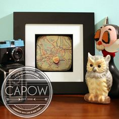 Map art print  first kiss halifax nova scotia  candy by CAPow