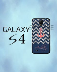Samsung Galaxy S4 Case  Navy Chevron Anchor by thecasefactory, $15.99