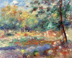 Pierre Auguste Renoir, Summer Landscape, 19th c, oil on canvas