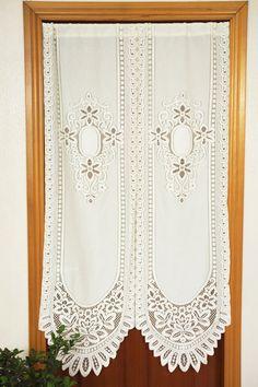 Cortinas de renda francês branco café quarto cozinha cortina de porta decorativa rideaux cortinas parágrafo sala de estar frete grátis(China (Mainland))