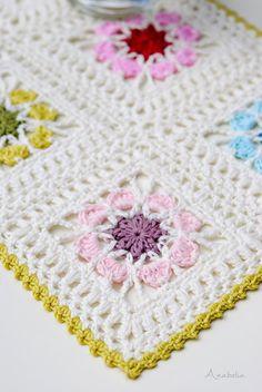 Tığ işi çiçek motifli bebek battaniyesi modeli  NaLaN'ın Dünyası #nlndnys #diy: