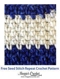 Free Crochet Stitch Pattern: Seed Stitch