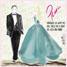 Pearl borrowed #liuwen 's #metgala gown for a night out with @zacposen