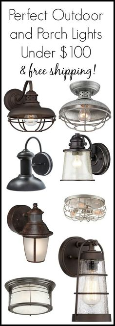A collection of outdoor lighting and porch sconces all under $100 with free shipping!