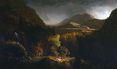 Landscape with Figures (The Last of the Mohicans) 1826 Thomas Cole