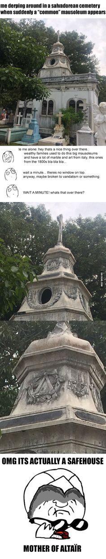 Altaïr and Ezio must be proud.