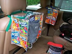 Textiles4you: A Juice Pouch Car Bag, one of the best around.