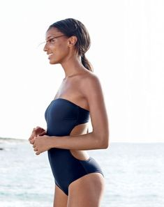 FEB '15 Style Guide: J.Crew women's cutout one-piece swimsuit.